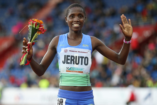 Norah Jeruto took first place on 57th Golden Spike IAAF World Challenge series